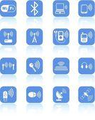 Iconos sin hilos — Vector de stock