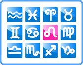 Zodiac icons — Stock Vector