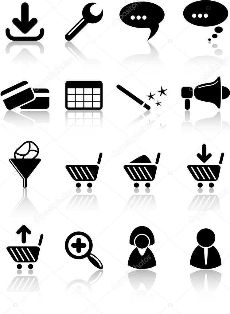 Website vector iconset  Stock Vector #7762932