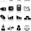 Stock Vector: Money icons