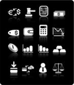 Money icons — Vector de stock