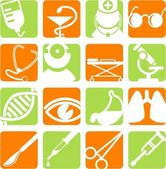 ícones médicos — Vetor de Stock