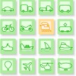 Stock Vector: Ttransportation icons