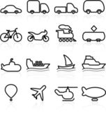 Ttransportation icons — Stock Vector