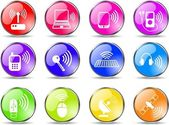 Wireless icons — Stock Vector