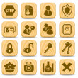 Stock Vector: Security icons