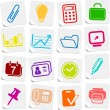 Office icons — Stock Vector #7893178
