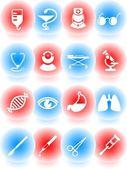 Medycznych ikony — Wektor stockowy
