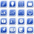 Stock Vector: Office icons