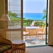 Stock Photo: OceView from tropical resort room
