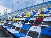 Colorful stadium seats — Stock Photo