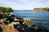 Mediterraneen sea and shores — Stock Photo