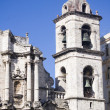 Stock Photo: Bell tower of cathedral of Havan- Cuba