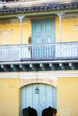 Facade of a cuban house in Trinidad — Stock Photo