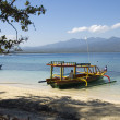 Stock Photo: Fishing boat on Gili island - Indonesia