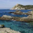 View upon rocks and sea in french riviera — Stock Photo