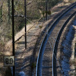 Royalty-Free Stock Photo: Curve on a Railway