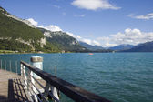 Lake Annecy from marina — Stock Photo