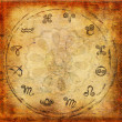 Zodiac background - Stock Photo