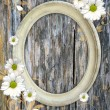 Romantic scrapbook background with chamomile — Stock Photo