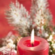 Lighting Chrismas candles — Stock Photo