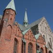 Denmark Ribe the church - Stock Photo