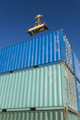 Containers port — Stock Photo