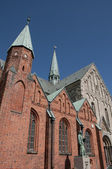 Denmark Ribe the church — Stock Photo