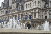 Paris Hotel De Ville,The City Hall — Stock Photo