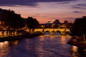 Paris view of the river Seine a sunset — Foto de Stock