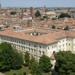 Aerial view of Pavia - Stock Photo