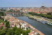 Aerial view of Pavia — Foto de Stock