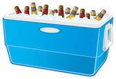 Beer cooler — Stock Vector