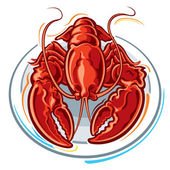 Lobster — Vector de stock