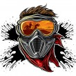 Vector de stock : Paintball player