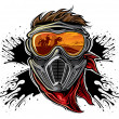 Paintball player — Vector de stock