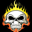 Flaming skull — Stock Vector #7579520