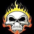 Vector de stock : Flaming skull