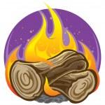 Campfire — Stock Vector #7608193