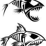 Fish skeleton — Stock Vector