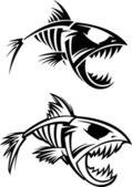 Squelette de poisson — Vecteur