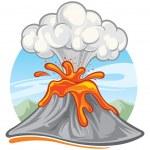Volcano — Stock Vector #7627905