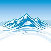 Mountain range — Stock Vector