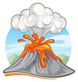 Volcano — Stockvektor