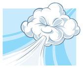 Día de viento — Vector de stock