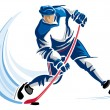 Hockey player — Stock Vector #7661524