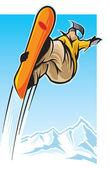 Snowboarding — Stock Vector