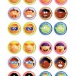 Vector de stock : Boys and girls_web buttons