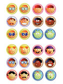 Boys and girls_web buttons — Vector de stock