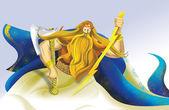 Perun, the god of thunder — Stock Photo